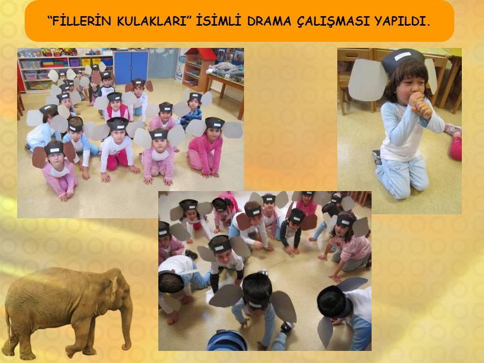 """""""FİLLERİN KULAKLARI"""" İSİMLİ DRAMA ÇALIŞMASI YAPILDI."""
