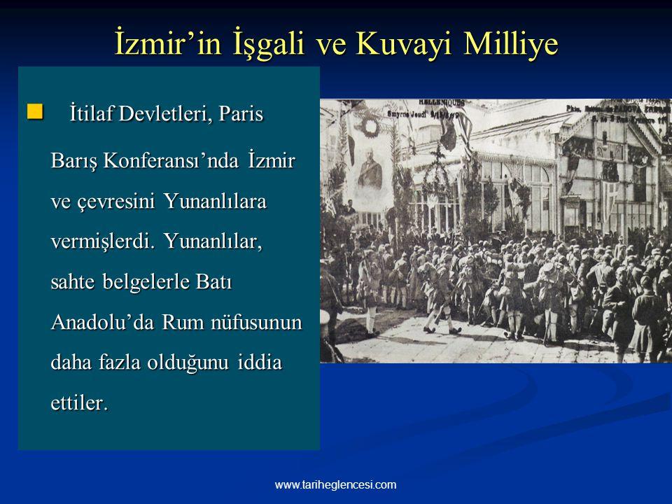 İzmir'in İşgali ve Kuvayi Milliye İtilaf Devletleri, Paris Barış Konferansı'nda İzmir ve çevresini Yunanlılara vermişlerdi. Yunanlılar, sahte belgeler