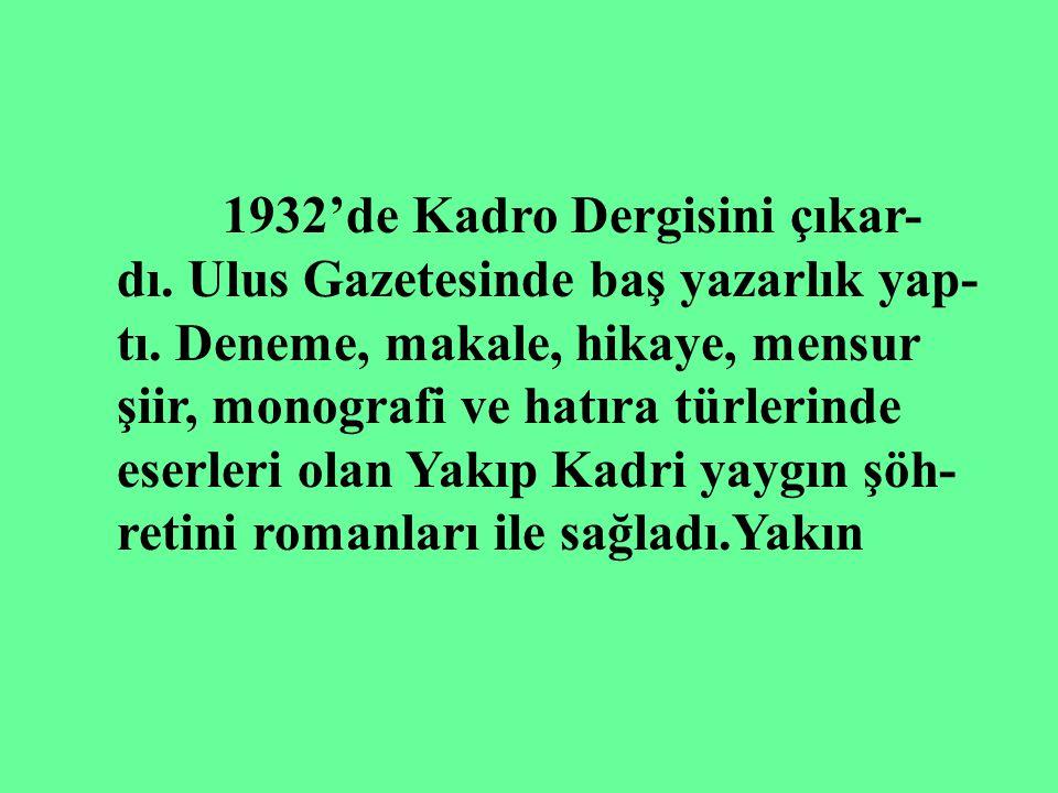 1915'de Peyam, 1916'dan sonra İkdam Gazetesinde makale ve hika- yeler yazdı. Dergah Mecmuasının ya- zarları arasına girdi. Milli mücadele- ye katıldı.