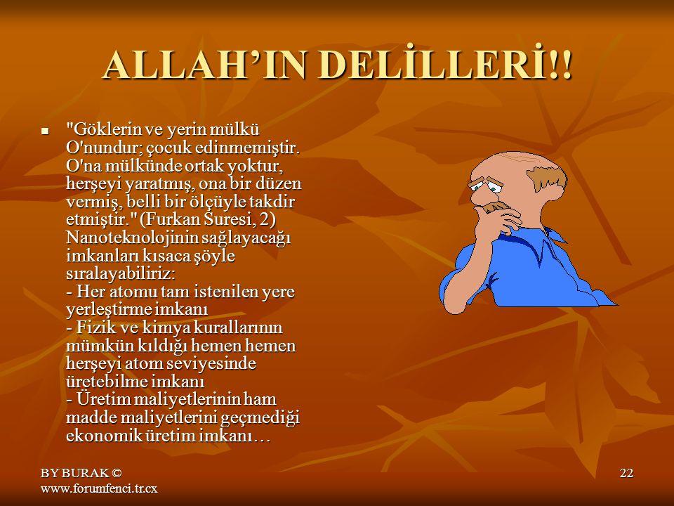 BY BURAK © www.forumfenci.tr.cx 21 NANOTEKNOLOJİ HAYATI NASIL DEĞİŞTİRECEK?.