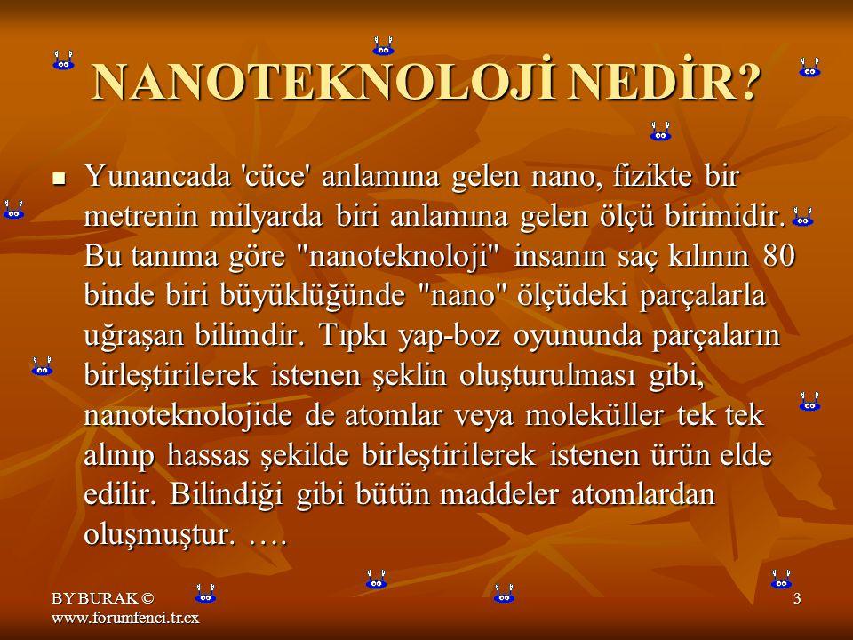 BY BURAK © www.forumfenci.tr.cx 3 NANOTEKNOLOJİ NEDİR.