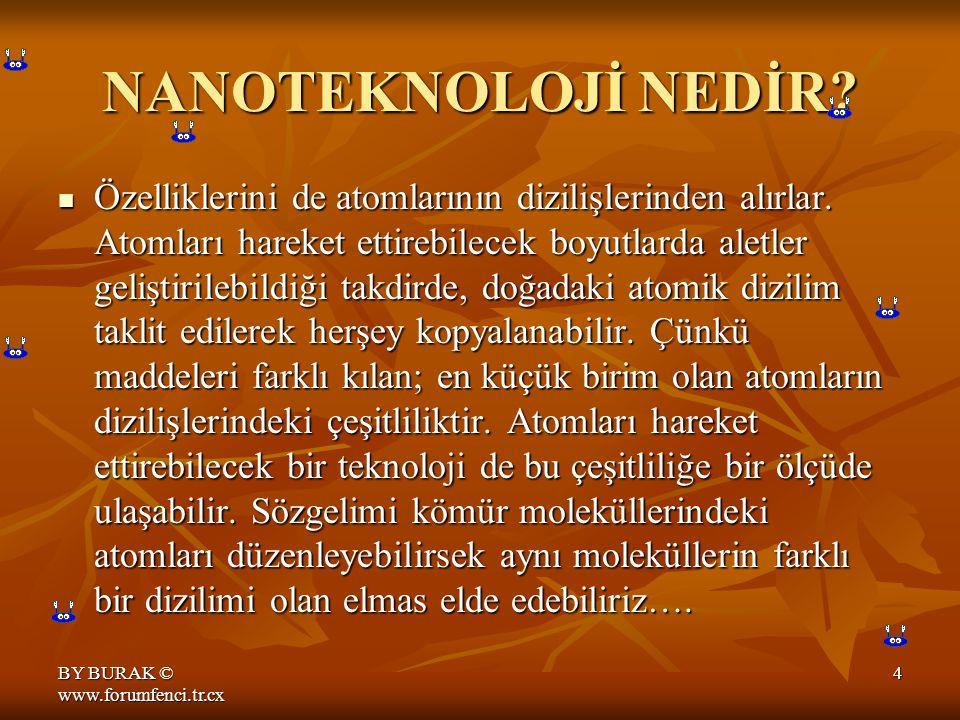 BY BURAK © www.forumfenci.tr.cx 4 NANOTEKNOLOJİ NEDİR.