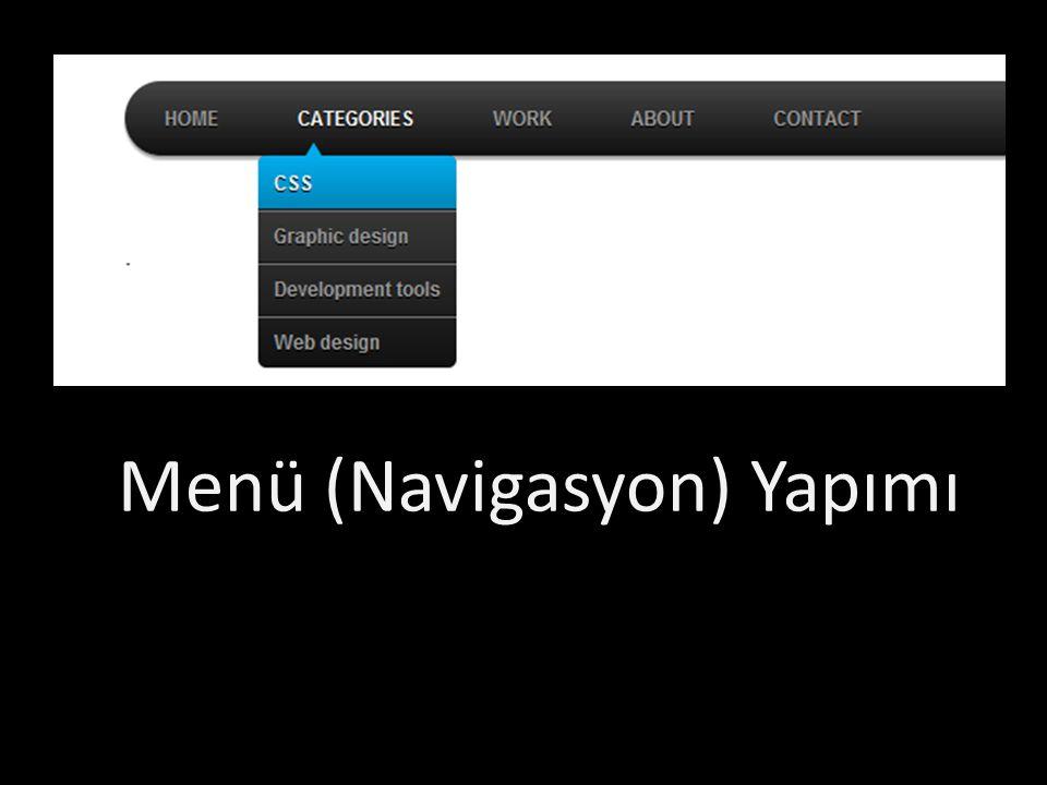 Navigasyon = Liste Home News Contact About