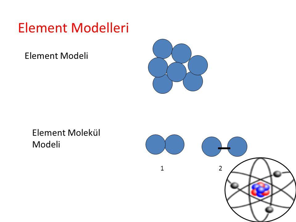 Element Modelleri Element Modeli Element Molekül Modeli 12