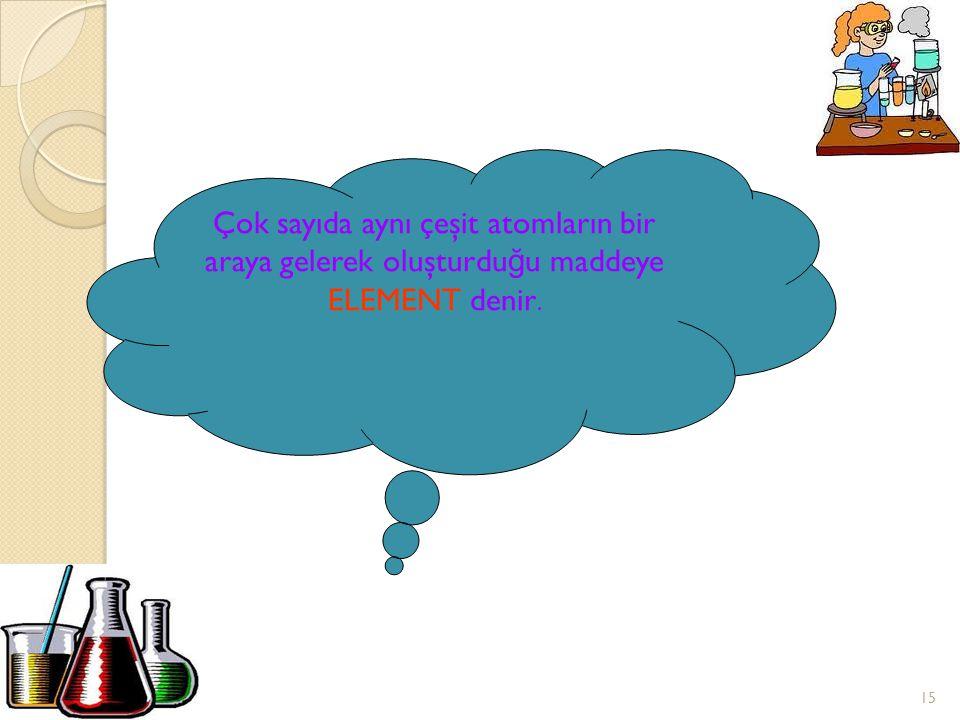 14 ORGAN İ ZMAYI OLUŞTURMAK İ Ç İ N HÜCRELER B İ RARAYA GEL İ R ATOMU OLUŞTURAN DAHA KÜÇÜK PARÇACIK VARMI????? ATOMLAR HÜCREY İ OLUŞTURAN KARBONH İ TR