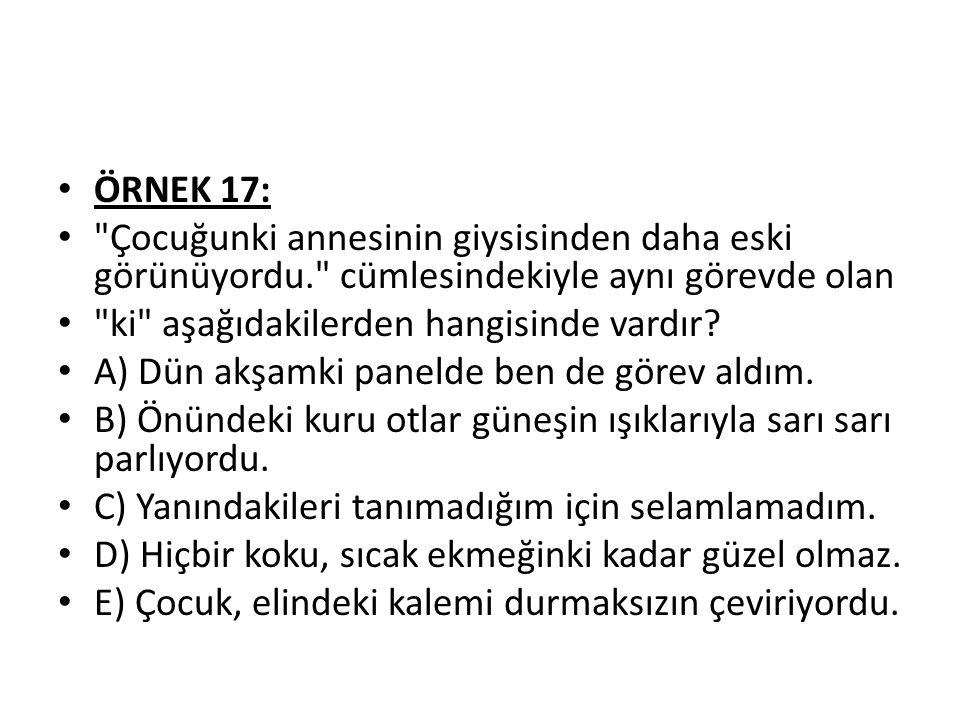 ÖRNEK 17: