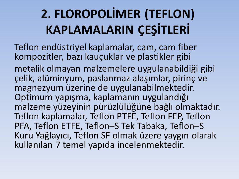 1.Teflon PTFE 2. Teflon FEP 3. Teflon PFA 4. Teflon ETFE 5.