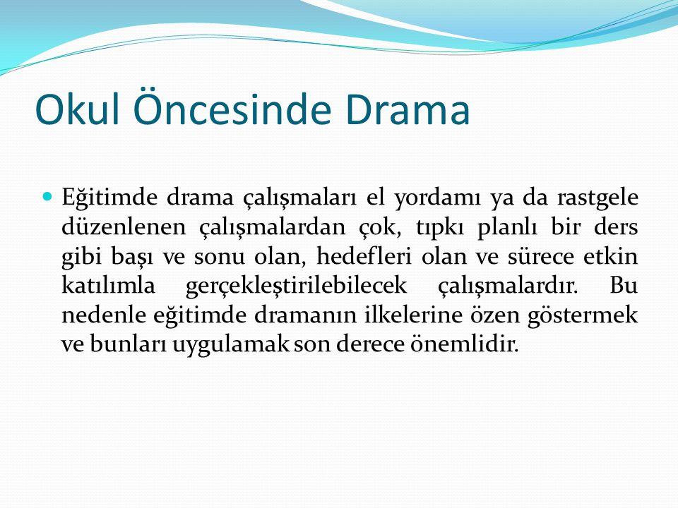 Okulöncesi dönemde eğitimde drama çalışmaları, küçük çocukların kendilerini ifade edebilecekleri etkinlikleri sunar.
