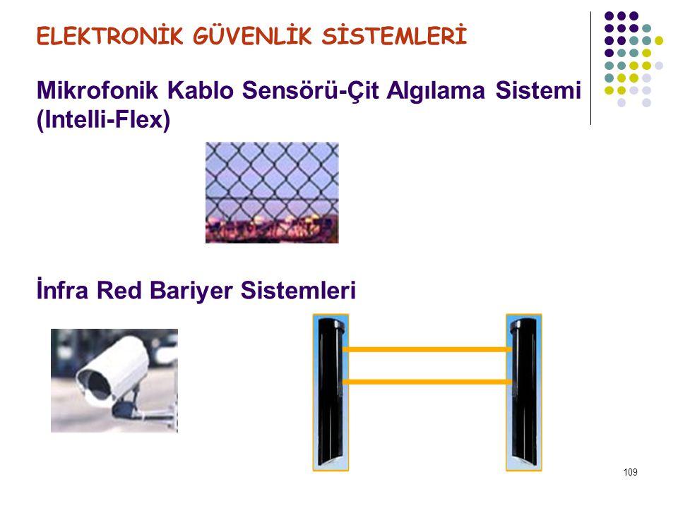 110 Mikrodalga Bariyer Sistemleri ELEKTRONİK GÜVENLİK SİSTEMLERİ Elektrik Alan (Elektrostatik) Algılama Sistemleri