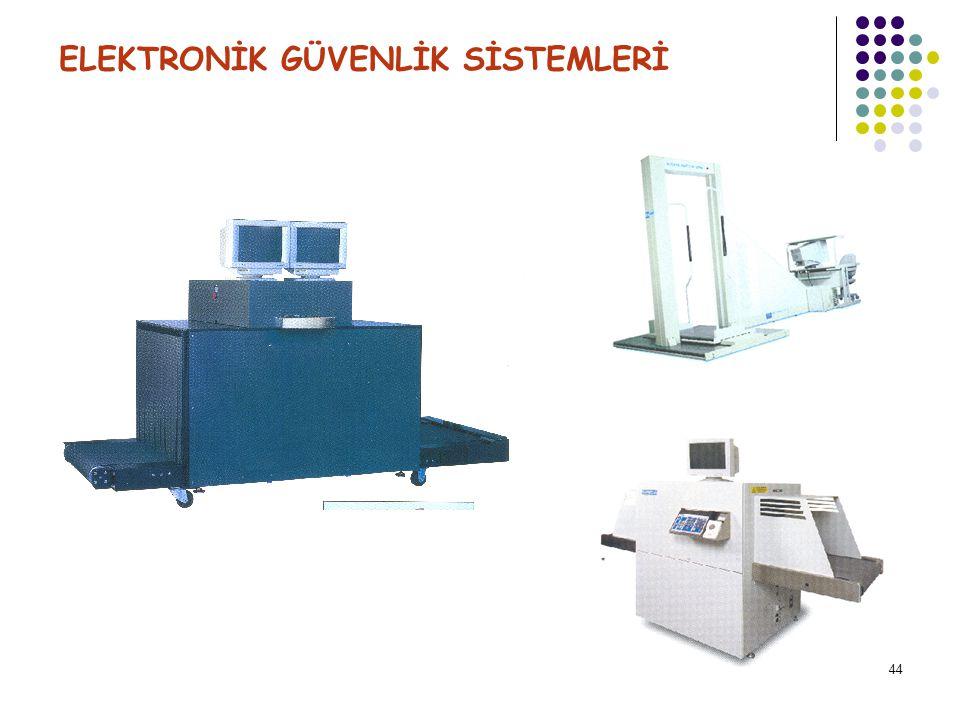 45 ELEKTRONİK GÜVENLİK SİSTEMLERİ Sağlık emniyeti; Dozimetre ( Dozaj Gösterge Şeridi ) ve kullanılması X-ray sistemleri;