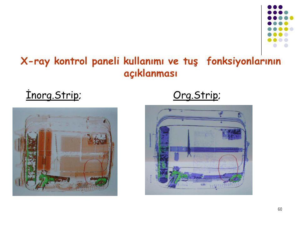 61 X-ray kontrol paneli kullanımı ve tuş fonksiyonlarının açıklanması View Tuşu; OPERATÖR ASSIST ÖZELLİĞİNİN KULLANILMASI Threat Tuşu;