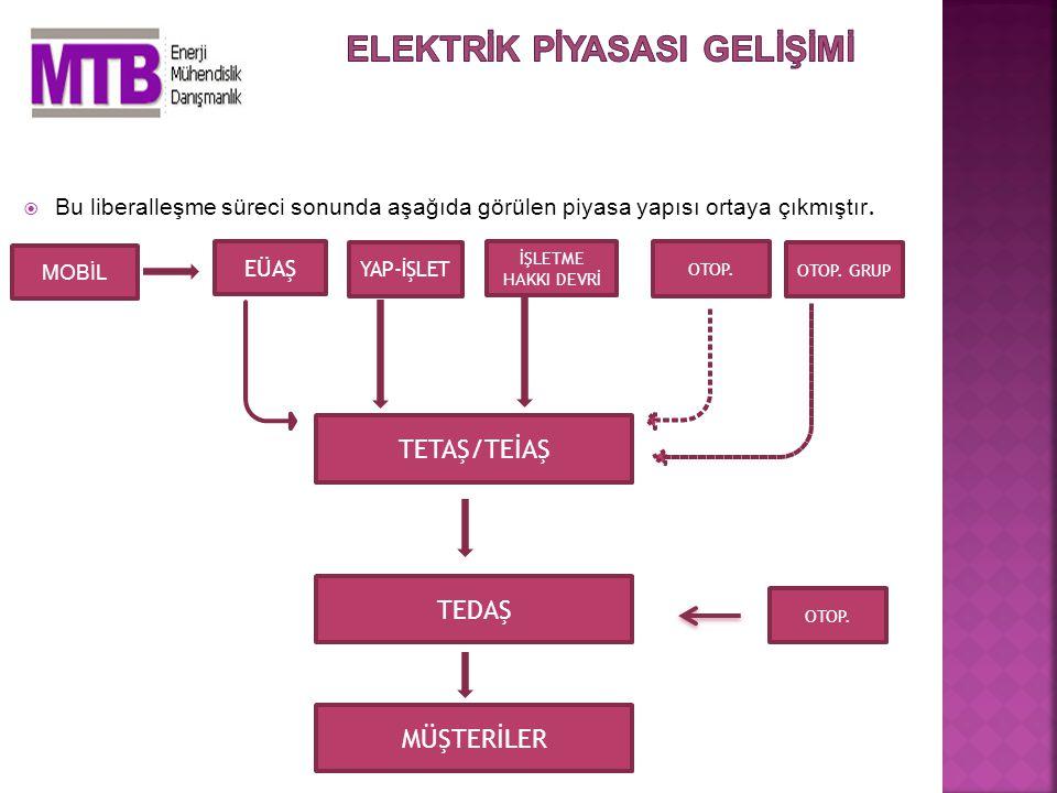  Bu yüzden Organize Sanayi Bölgeleri Kanununa göre altyapı hizmetlerini vermek zorunda olan OSB'lerin bu görevleri Elektrik Piyasası Kanunu ve ikincil mevzuatında karşılığını bulamamıştır.