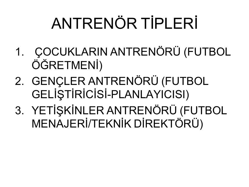 ANTRENÖR TİPLERİ 1.