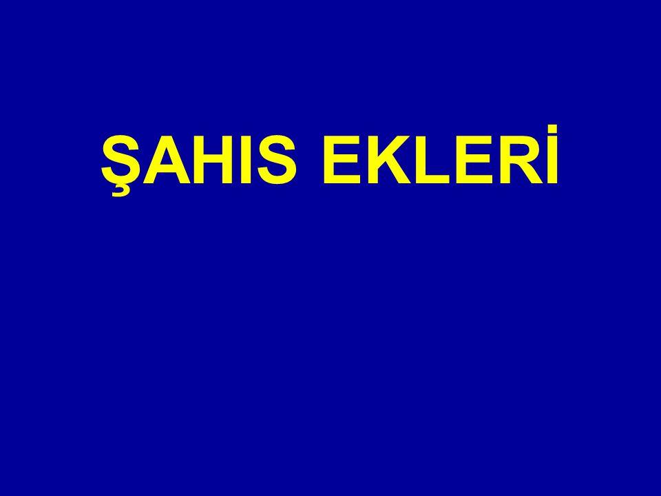 ŞAHIS EKLERİ