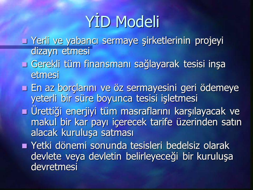 YİD Modeli Yerli ve yabancı sermaye şirketlerinin projeyi dizayn etmesi Yerli ve yabancı sermaye şirketlerinin projeyi dizayn etmesi Gerekli tüm finan