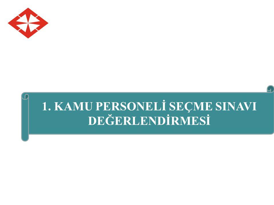 1. KAMU PERSONELİ SEÇME SINAVI DEĞERLENDİRMESİ
