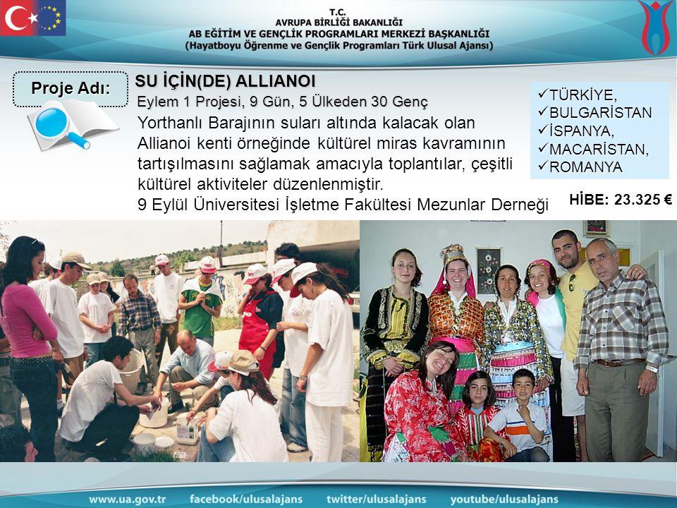 SU İÇİN(DE) ALLIANOI Yorthanlı Barajının suları altında kalacak olan Allianoi kenti örneğinde kültürel miras kavramının tartışılmasını sağlamak amacıyla toplantılar, çeşitli kültürel aktiviteler düzenlenmiştir.