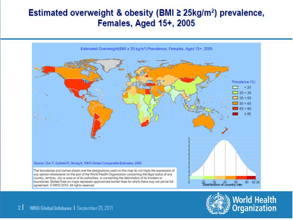 TURDEP-2 Türkiye'de obezite sıklığı %32.00 TURDEP-1: %22.30 Erkeklerde kilo fazlalığı, kadınlarda ise obezite daha yaygın Genel olarak erişkin yaşlardaki Türk toplumunun 2/3'ü kilolu veya obezdir.