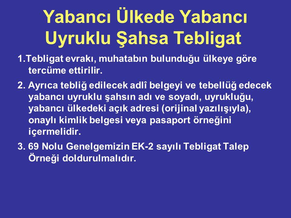 Yabancı Ülkede Türk Vatandaşına Tebligat 1.