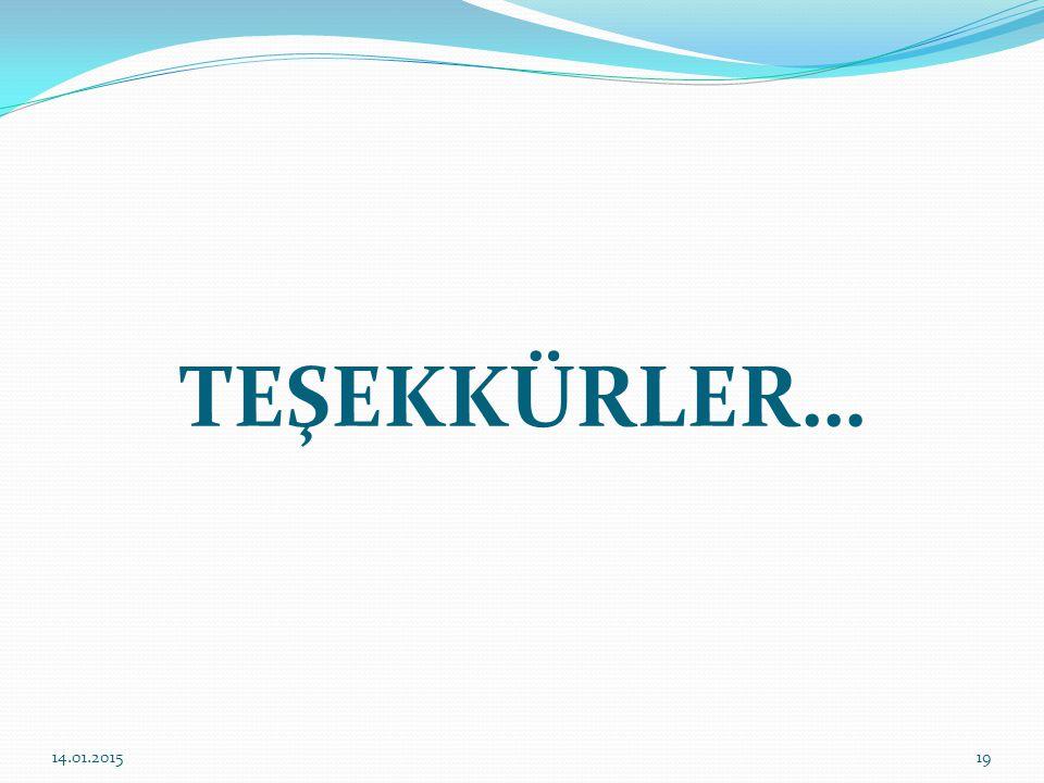TEŞEKKÜRLER… 1914.01.2015