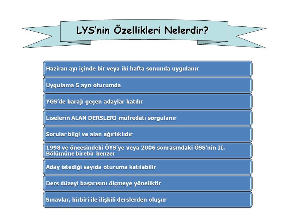 LYS'nin Özellikleri Nelerdir?