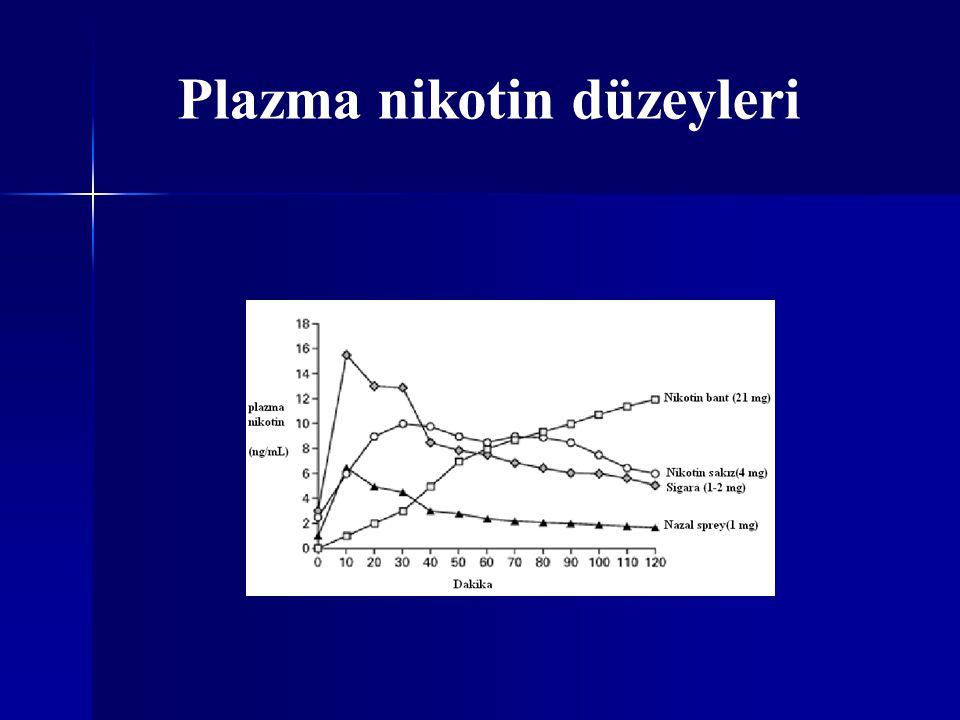 Plazma nikotin düzeyleri