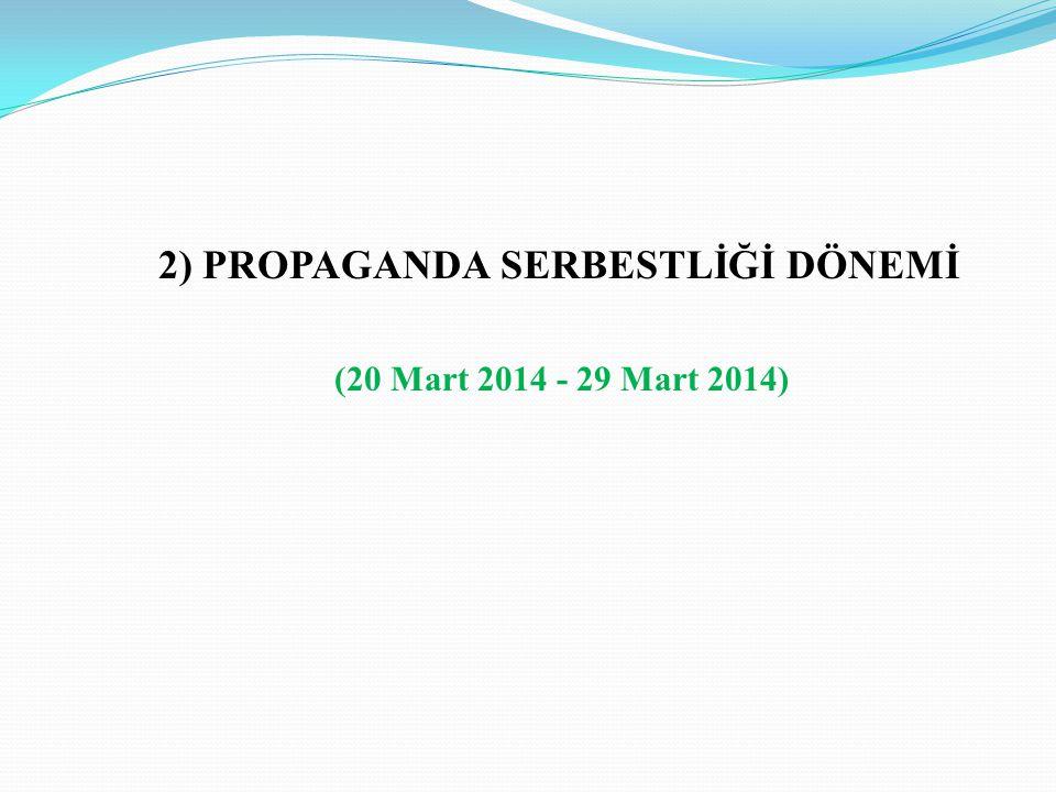 2) PROPAGANDA SERBESTLİĞİ DÖNEMİ (20 Mart 2014 - 29 Mart 2014)