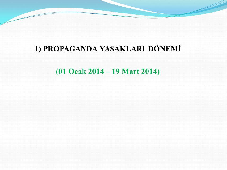 1)PROPAGANDA YASAKLARI DÖNEMİ (01 Ocak 2014 – 19 Mart 2014)