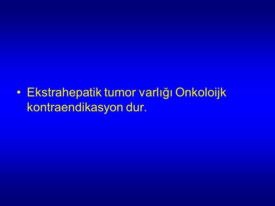 Ekstrahepatik tumor varlığı Onkoloijk kontraendikasyon dur.