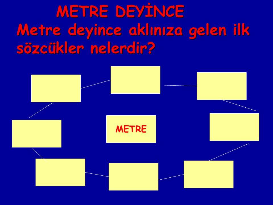 Metre kendini tanıtsaydı neler söylerdi? metre