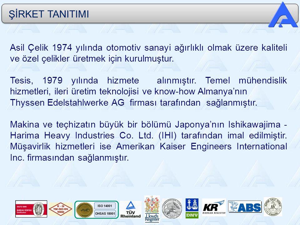 Asil Çelik 1974 yılında otomotiv sanayi ağırlıklı olmak üzere kaliteli ve özel çelikler üretmek için kurulmuştur. Tesis, 1979 yılında hizmete alınmışt
