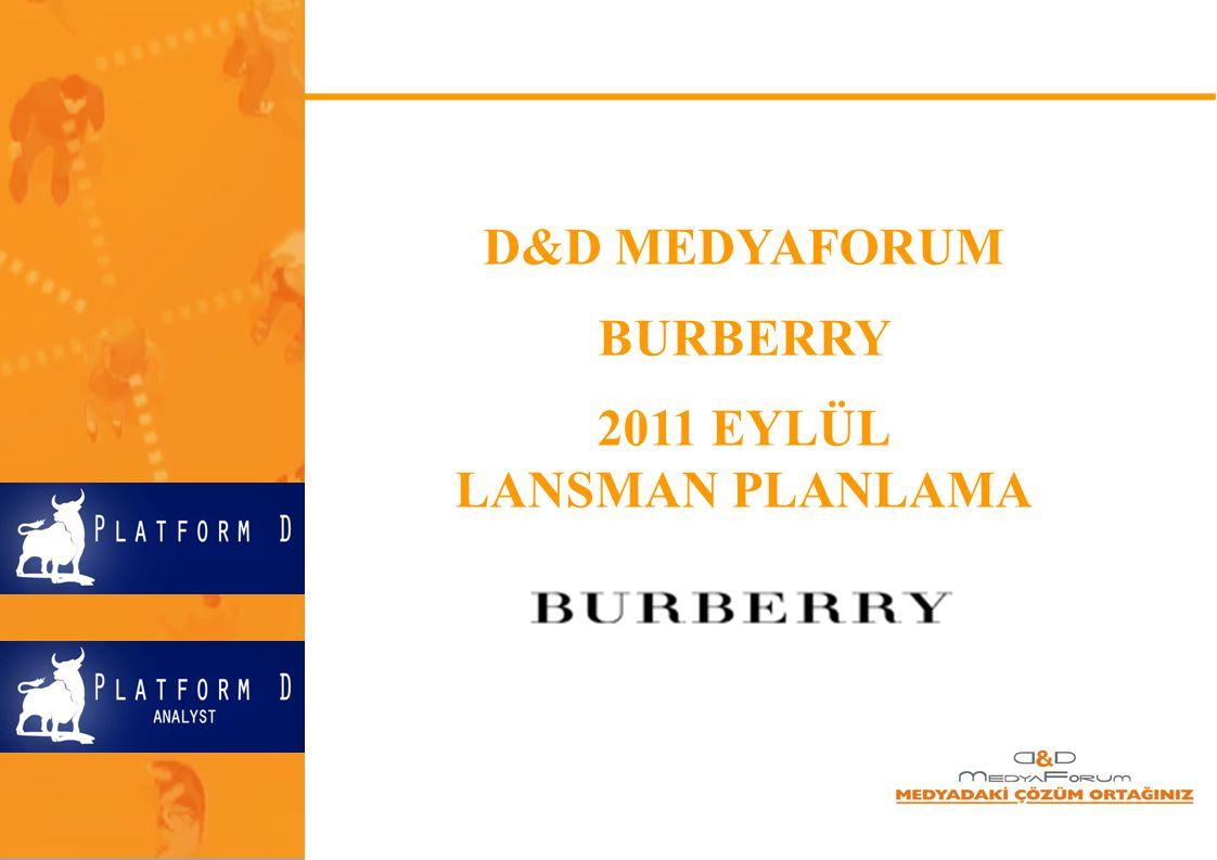 D&D MEDYAFORUM BURBERRY 2011 EYLÜL LANSMAN PLANLAMA