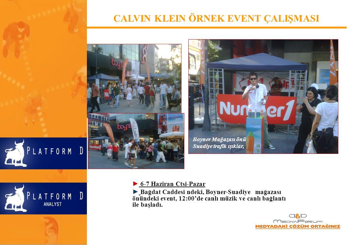 ► Boyner Mağazası, Calvin Klein event için mağaza içinde 10 adet 70X100 cm'lik panoyla hafta içinde tanıtım yaptı.