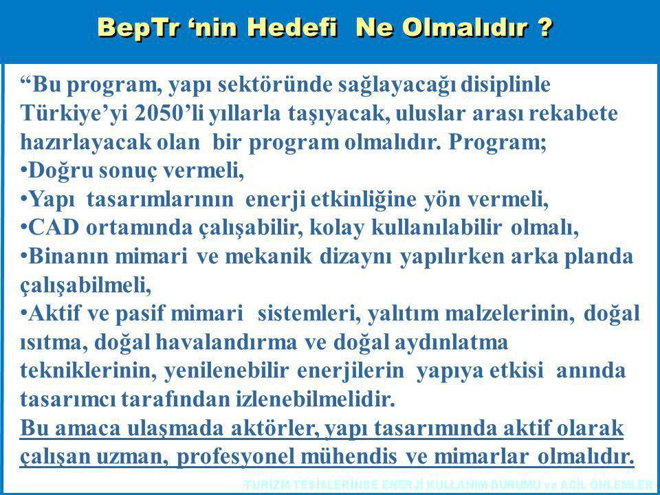 """BepTr 'nin Hedefi Ne Olmalıdır ? """"Bu program, yapı sektöründe sağlayacağı disiplinle Türkiye'yi 2050'li yıllarla taşıyacak, uluslar arası rekabete haz"""