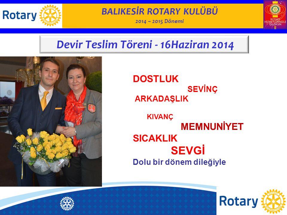 BALIKESİR ROTARY KULÜBÜ 2014– 2015 Dönemi KULÜP YÖNETİMİ KOMİTESİ Balıkesir Rotary Kulübü Web Sitesi ve facebook sayfası güncellendi