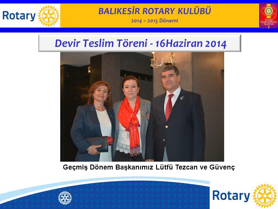 BALIKESİR ROTARY KULÜBÜ 2014– 2015 Dönemi KULÜP YÖNETİMİ KOMİTESİ Balıkesir Rotary Kulübü 30.Yıl Kitabı hazırlanıyor