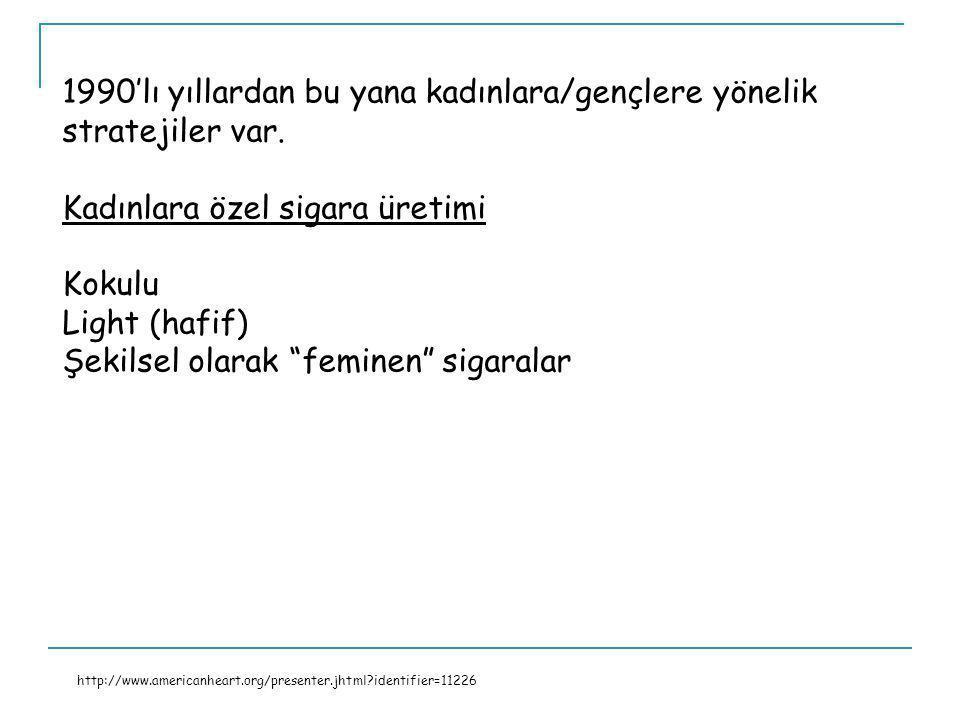 1990'lı yıllardan bu yana kadınlara/gençlere yönelik stratejiler var.