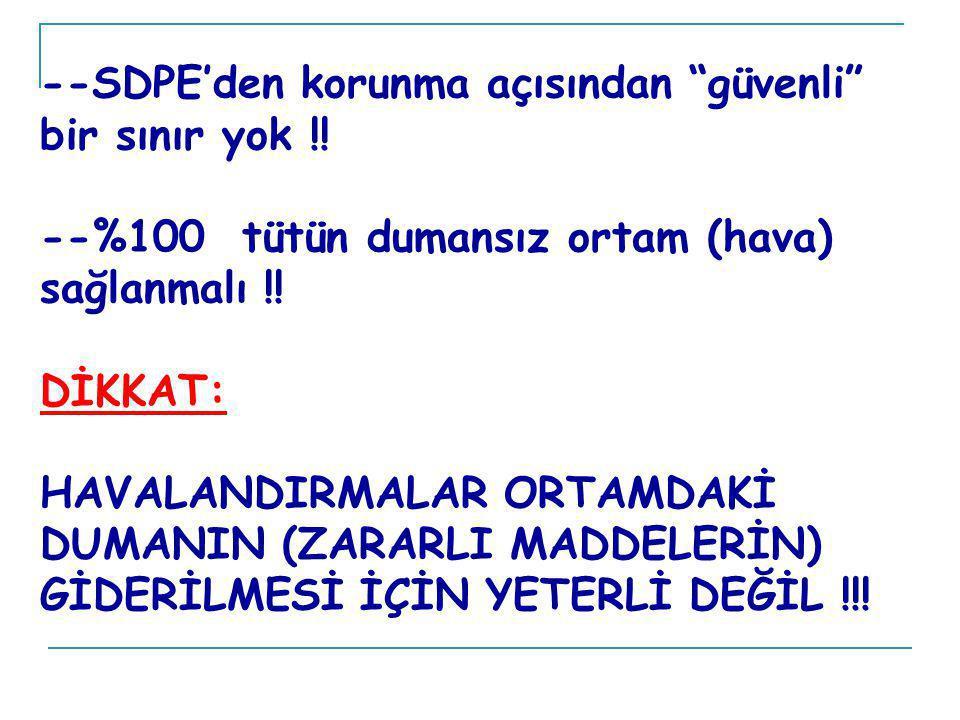 --SDPE'den korunma açısından güvenli bir sınır yok !.