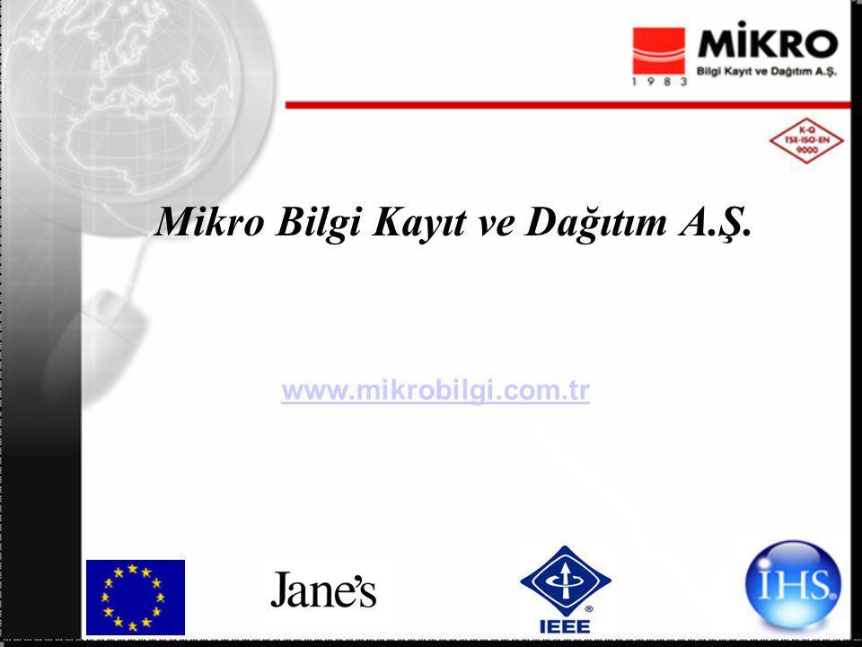 Mikro Bilgi Kayıt ve Dağıtım A.Ş. www.mikrobilgi.com.tr