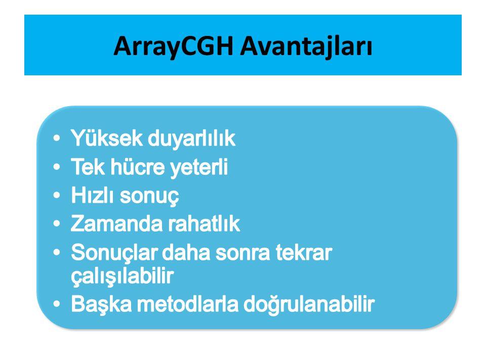 ArrayCGH Avantajları