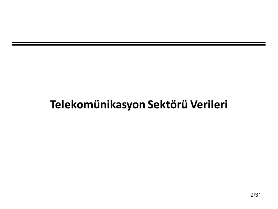 2/31 Telekomünikasyon Sektörü Verileri