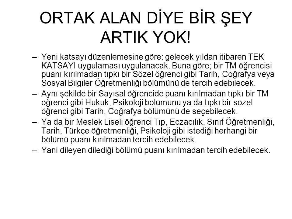 ORTAK ALAN DİYE BİR ŞEY ARTIK YOK.