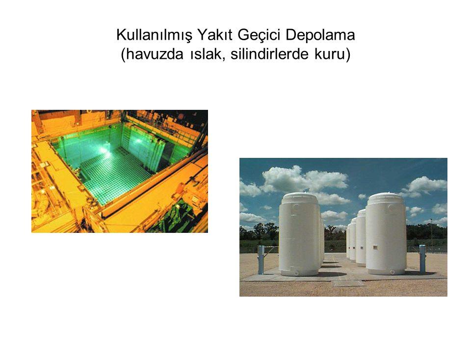 Kullanılmış Yakıt Geçici Depolama (havuzda ıslak, silindirlerde kuru)