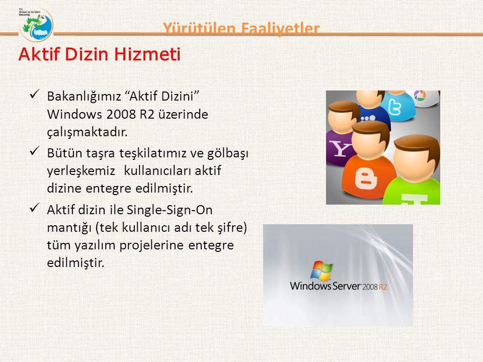"""Yürütülen Faaliyetler Bakanlığımız """"Aktif Dizini"""" Windows 2008 R2 üzerinde çalışmaktadır. Bütün taşra teşkilatımız ve gölbaşı yerleşkemiz kullanıcılar"""
