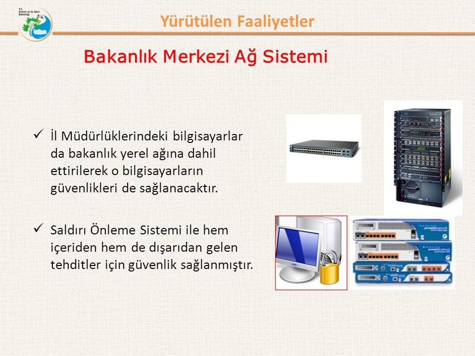 Bilgi İşlem Dairesi Başkanlığı Bakanlık Merkezi Ağ Sistemi Yürütülen Faaliyetler - Altyapı