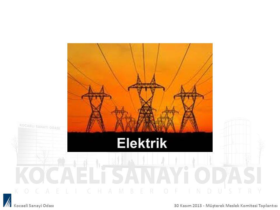 Kocaeli Sanayi Odası 30 Kasım 2013 - Müşterek Meslek Komitesi Toplantısı Elektrik