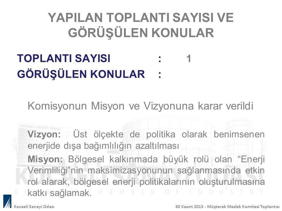 GÖRÜŞÜLEN KONULAR Türkiye'nin enerji konusundaki mevcut durumu değerlendirildi.