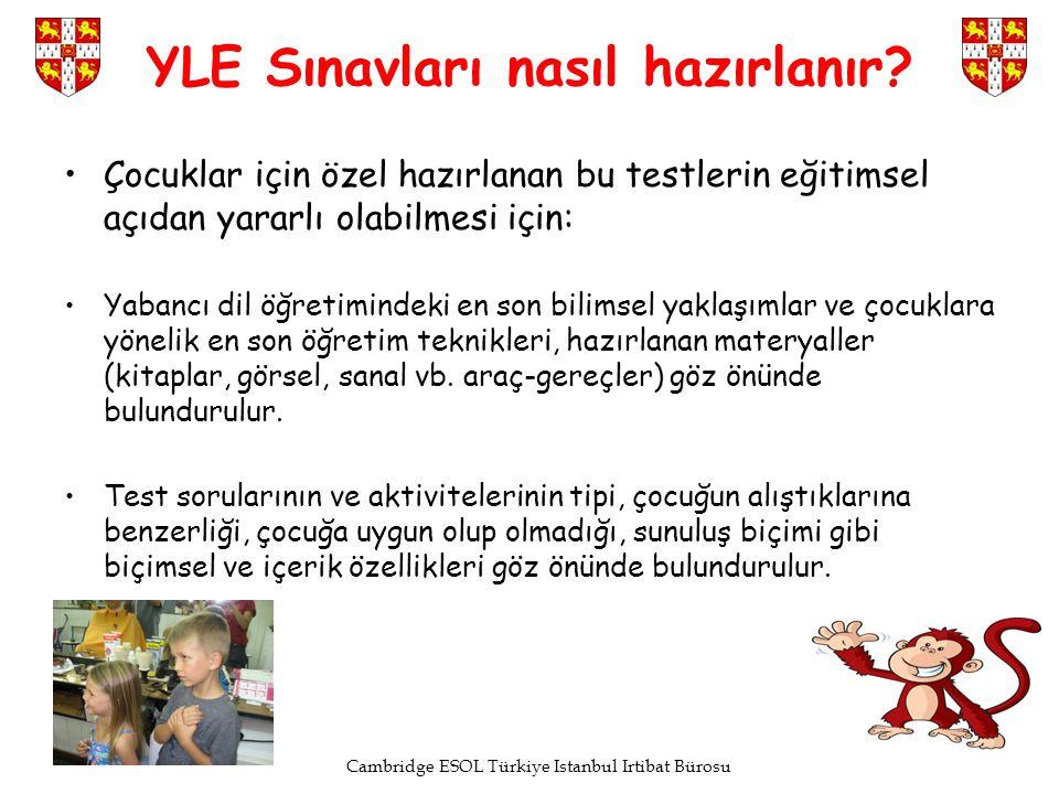Cambridge ESOL Türkiye Istanbul Irtibat Bürosu YLE Sınavları nasıl hazırlanır? Çocuklar için özel hazırlanan bu testlerin eğitimsel açıdan yararlı ola
