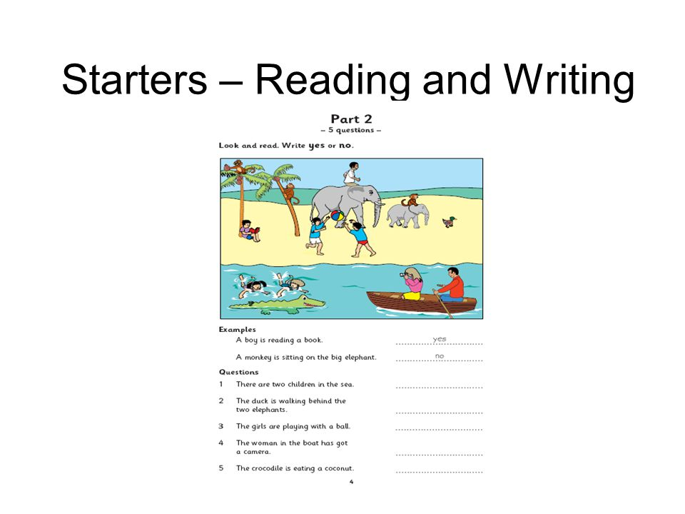 Starters – Reading and Writing