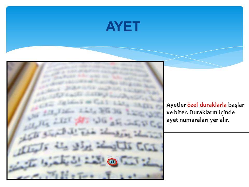 SÛRE Kur'ân-ı Kerim'de 114 sûre vardır.İlk sûre Fatiha dır.